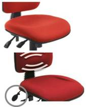 Spectrum 3 chair Flat seat Inflatable Lumbar Pump